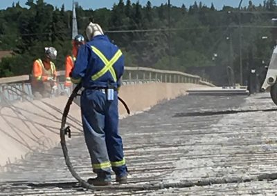 Sandblasting Cement Roadway