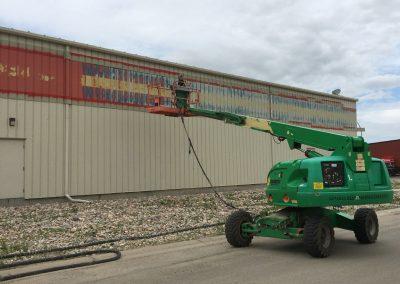Sandblasting Commercial Metal Exterior