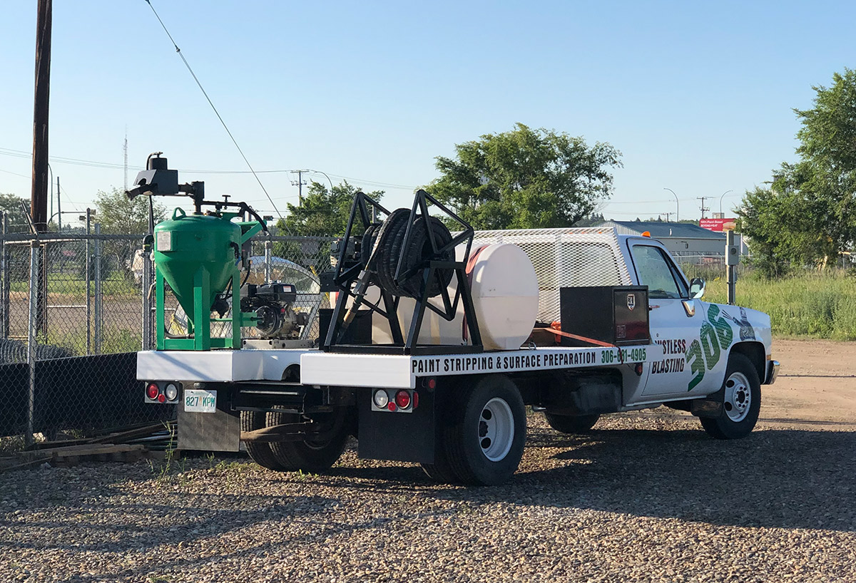 Mobile Sandblasting Truck Moose Jaw